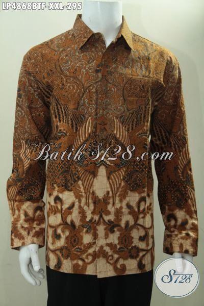 Hem Batik Klasik Buatan Solo Cocok Untuk Kerja Dan Rapat, Pakaian Batik Lengan Panjang Kombinasi Tulis Pake Furing Trend Mode Terkini Buat Tampil Lebih Berwibawa, Size XXL