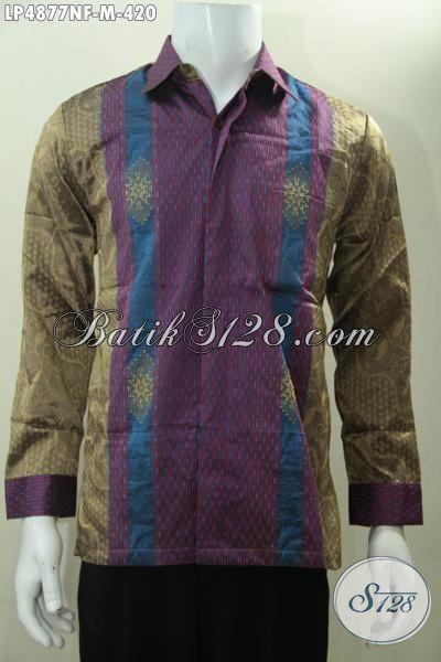 Online Shop Pakaian Batik Jawa, Sedia Jua Kemeja Tenun Motif Dan Warna Terbaru Lebih Elagan Dan Mewah Di Lengkapi Daleman Full Furing, Size M