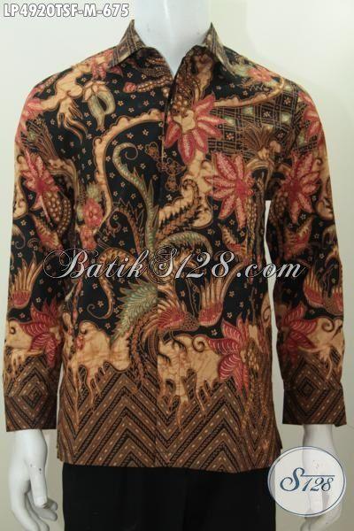 Sedia Online Baju Batik Jawa Premium Terbaru Khas Solo, Busana Batik Klasik Elegan Pake Furing Lengan Panjang Proses Tulis Pria Tampil Gagah Dan Tampan, Size M