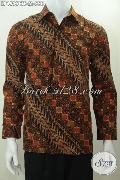 Jual Hem Batik Klasik Elegan Bahan Halus Kwalitas Premium Harga Terjangkau, Jual Pakaian Batik Solo Cap Tulis Istimewa Trend Mode 2015, Size M