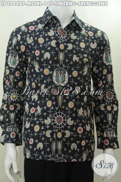 Hem Batik Lelaki Muda Dan Dewasa Desain Spesial Tahun Ini Motif Lintang Trenggono, Baju Batik Lengan Panjang Kombinasi Tulis Warna Elegan Pas Buat Hangouts [LP4944BT-XL]