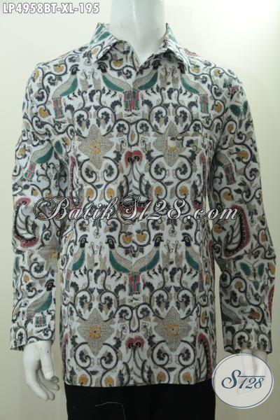 Baju Lengan Panjang Batik Solo Kalsik Nan Istimewa, Busana Batik Berkelas Buatan Solo Kwalitas Premium Model Lengan Panjang Cocok Untuk Acara Resmi, Size XL