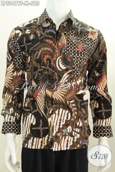 Kemeja Lengan Panjang Premium, Baju Batik Tulis Elegan Dan Mewah Harga 500 Ribuan Berbahan Istimewa Dilengkap Daleman Full Furing Lebih Nyaman Di Pakai [LP5047TF-M]
