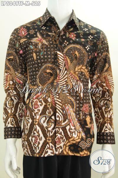 Baju Batik Full Furing Mewah Kwalitas Bagus Daleman Full Furing, Busana Batik Elegan Seragam Kerja Dan Rapat Pria Muda Masa Kini [LP5049TF-M]