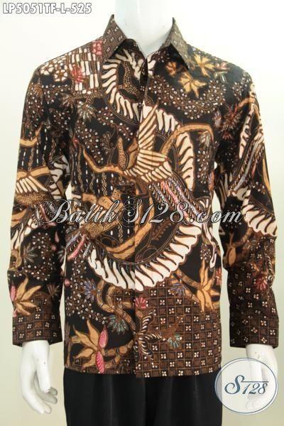 Sedia Busana Kerja Spesial Bahan Batik Tulis, Pakaian Batik Lengan Panjang Full Furing Motif Bagus Banget, Size L
