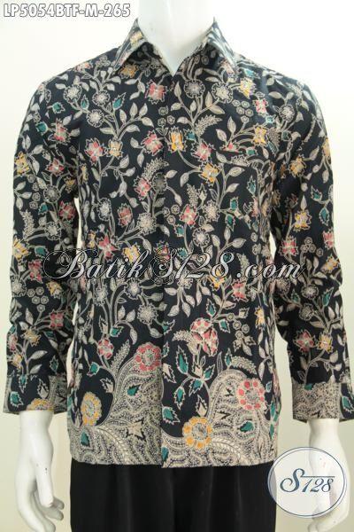 Hem Batik Bagus Motif Bunga Bunga Model Lengan Panjang Pake Furing