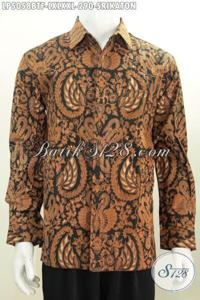 Hem Kerja Batik Motif Klasik, Pakaian Batik Srikaton Lengan Panjang Pake Furing Buatan Solo Kwalitas Premium, Size L – XL – XXL
