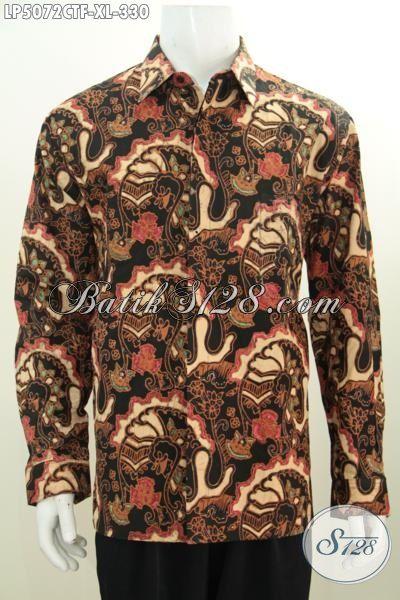 Baju Hem Lengan Panjang Modis Buat Kerja Dan Pesta, Kemeja Batik Full Furing Motif Keren Dengan Warna ELegan Pria Terlihat Mempesona, Size XL