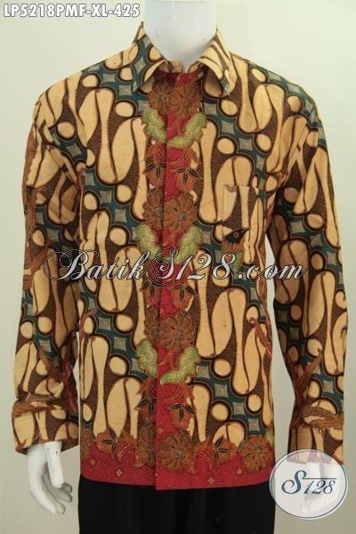 Batik Hem Klasik Lengan Panjang Daleman Full Furing Kwalitas Premium, Busana Batik Seragam Kerja Lelaki Size L Membuat Penampilan Semakin Tampan [LP5218PMF-XL]