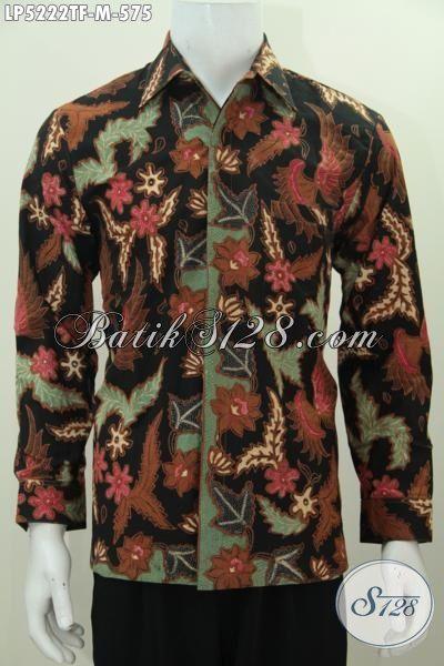 Pakaian Batik Premium Lengan Panjang Motif Klasik Proses Tulis Tangan Asli, Hem Batik Istimewa Pake Furing Kesukaan Pejabat, Size M