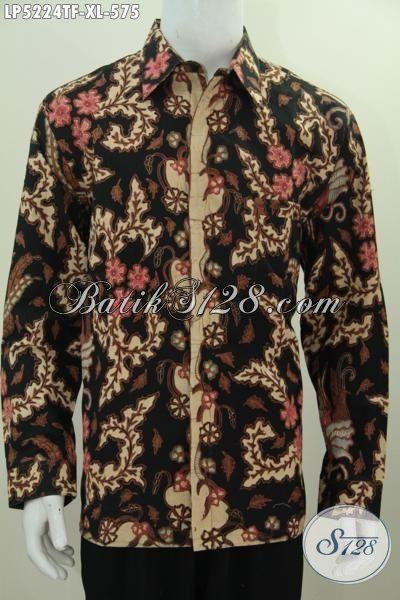 Busana Batik Mewah Motif Terbaru Model Lengan Panjang Full Furing, Pakaian Batik Premium Proses Tulis Ukuran XL Pilihan Sempurna Untuk Tampil Makin Berkelas