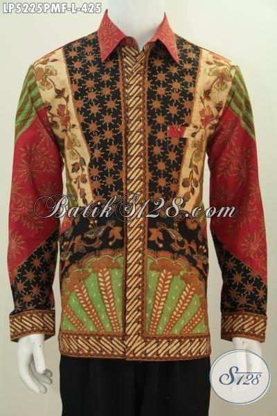 Busana Batik Bagus Dan Berkelas Buatan Solo Motif Klasik Model Lengan Panjang Pake Furing, Pakaian Batik Istimewa Kombinasi Tulis Untuk Kerja Tampil Lebih Berkarakter, Size L