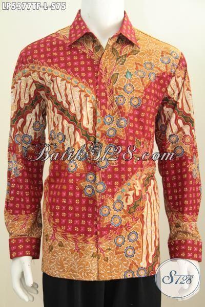Hem Batik Mewah Dan Mahal Berbahan Halus Model Lengan Panjang, Baju Batik Premium Full Furing Motif Terkini Proses Tulis Tangan Untuk Tampil Lebih Percaya Diri, Size L