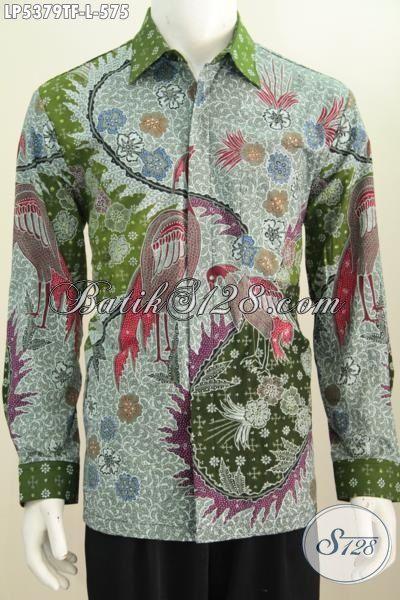 Sedia Kemeja Batik Lengan Panjang Premium Motif Bagus Kwalitas Halus, Pakaian Batik Istimewa Dengan Daleman Full Furing Proses Tulis Tangan Tampil Lebih Percaya Diri [LP5379TF-L]