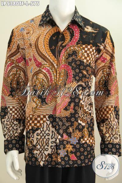 Baju Batik Tulis Modern Classic Istimewa Dan Berkelas, Pakaian Batik Lengan Panjang Pria Masa Kini Dengan Daleman Full Furing Bikin Penampilan Lebih Gagah Dan Berwibawa [LP5380TF-L]