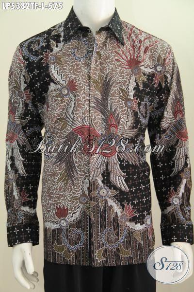 Sedia Online Produk Pakaian Batik Mewah Ukuran L Motif Elegan Tulis Tangan Asli, Kemeja Batik Lengan Panjang Full Furing Untuk Rapat Dan Acara Formal