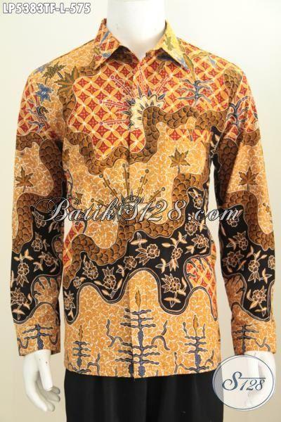 Online Shop Busana Batik Jawa Tengah, Jul Kemeja Batik Premium Lengan Panjang Istimewa Trend Motif Terkini Proses Tulis Daleman Full Furing, Size L