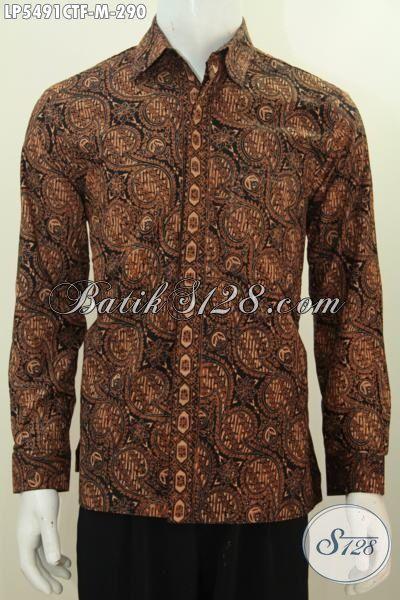 Hem Batik Klasik Lengan Panjang Pake Furing, Busana Batik Elegan Mewah Dengan Harga Terjangkau Proses Cap Tulis, Size M