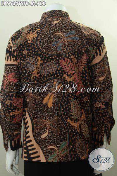 Kemeja Batik Premium Harga Mahal Proses Tulis Tangan Asli Pewarna Soga, Baju Batik Lengan Panjang Mewah Full Furing Motif Berkelas Tampil Keren Bak Pejabat, Size M