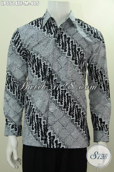 Jual Baju Batik ELegan Motif Bagus Proses Tulis, Kemeja Batik Lengan Panjang Pake Furing Istimewa Bisa Untuk Kerja Dan Kondangan, Size M