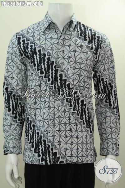 Baju Batik Elegan Motif Bagus Proses Tulis, Busana Hem Batik Lengan Panjang Full Furing Kwalitas Bagus Cocok Buat Rapat Harga 400 Ribuan, Size M