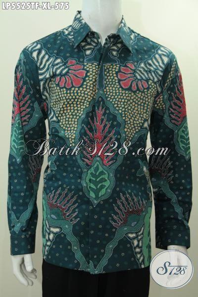 Hem Batik Bagus Dan Mewah Harga 500 Ribuan, Produk Kemeja Batik Full Furing Proses Tulis Model Lengan Panjang Warna Elegan Biki Cowok Terlihat Macho Dan Mempesona, Size XL