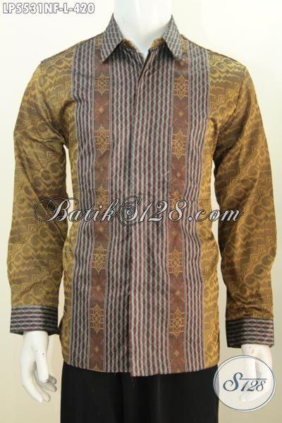 Baju Kemeja Lengan Panjang Pake Furing Berbahan Tenun