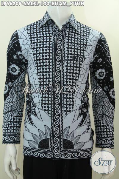 Jual Pakaian Batik Elegan Motif Klasik Kwalitas Bagus Dan Istimewa, Busana Batik Jawa Etnik Warna Hitam Putih Proses Print Penunjang Penampilan Lebih Berwibawa, Size S – M