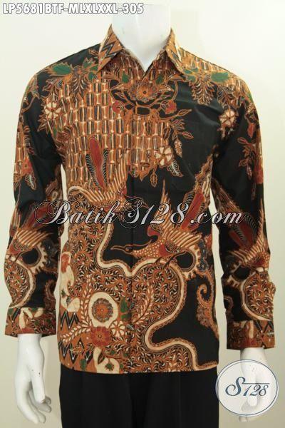 Hem Kemeja Batik Lengan Panjang Full Furing Motif Klasik, Pakaian Batik Jawa Tengah Halus Proses Kombinasi Tulis Buat Lelaki Tampil Berwibawa, Size M – XXL