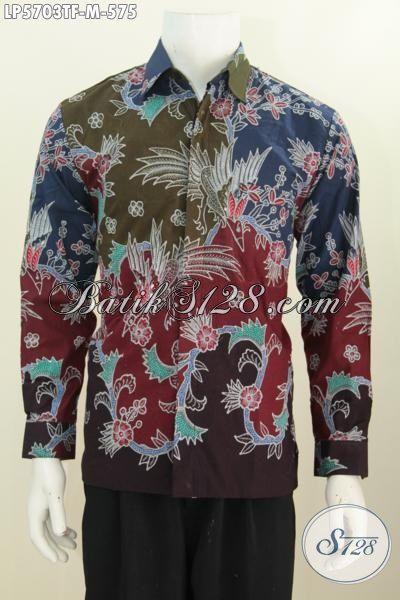 Hem Batik Mewah Premium Dari Jawa Tengah, Baju Batik Pejabat Motif Bagus Proses Tulis Model Lengan Panjang Full Furing Tampil Lebih Gagah, Size M