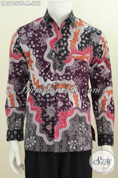 Jual Kemeja Batik Lengan Panjang Premium Ukuran M, Baju Batik Tulis Halus Istimewa Buatan Solo Model Lengan Panjang Full Furing Penunjang Penampilan Para Eksekutif