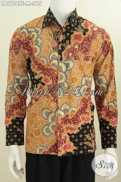 Baju Batik Mahal Buat Cowok, Pakaian Batik Istimewa Bahan Kwalitas Bagus Motif Mewah Proses Tulis Tangan Daleman Full Furing, Size M