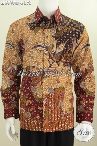 Hem BatikLengan Panjang Mewah Untuk Pria Karir Sukses, Baju Batik Premium Daleman Pake Furing Motif Berkelas Buat Penampilan Lebih Gagah Berwibawa, Proses Tulis Tangan Size L