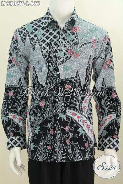 Baju Batik Mewah Halus Buatan Solo Motif Mewah Cocok Untuk Rapat, Hem Lengan Panjang Full Furing Proses Tulis Tangan MOdis Juga buata kondangan, Size L