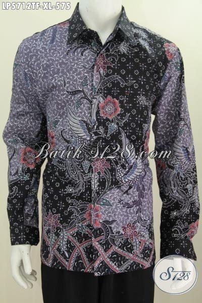 Baju Hem Lengan Panjang Istimewa Berbahan Halus Nan Isitmewa, Produk Pakaian Batik Premium Lengan Panjang Full Furing Cocok Untuk Rapat Dan Kondangan, Size XL