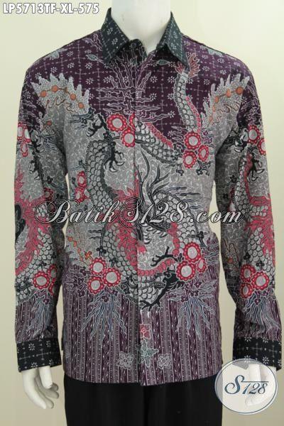 Hem Batik Premium Untuk Pria Dewasa, Jual Busana Batik Mewah Full Furing Motif Bagus Tuis Tangan Model Lengan Panjang Untuk Penampilan Lebih Berwibawa [LP5713TF-XL]