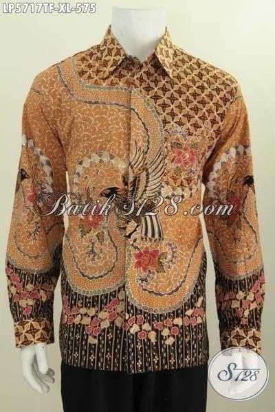 Batik Hem Premium Untuk Pria Sukses, Baju Batik Mahal Proses Tulis Tangan Daleman Full Furing Model Lengan Panjang Untuk Acara Resmi, Size XL