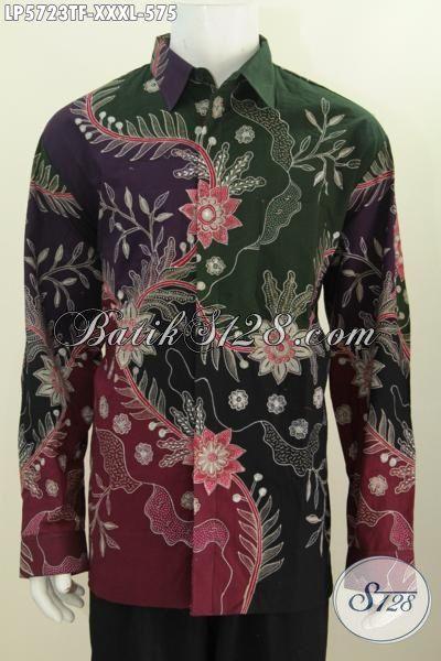 Baju Hem Batik Mewah Halus Lengan Panjang Premium Ukuran
