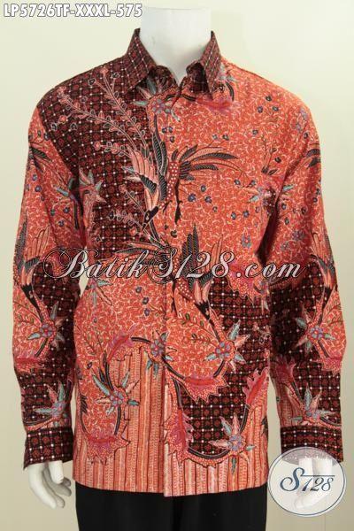 Baju Hem Batik Pejabat Desain Formal Motif Mewah, Baju Batik Tulis Untuk Rapat Ukuran 4L Spesial Untuk Yang Berbadan Gemuk Sekali