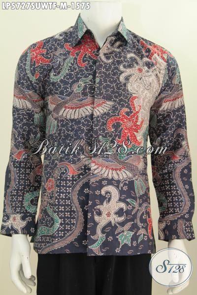 Jual Kemeja Btik Super Premium, Pakaian Batik Halus Berbahan Sutra Motif Berkelas Proses Tulis Tangan, Baju Batik Pejabat Dan Executive Tampil Lebih Berkelas, Size M