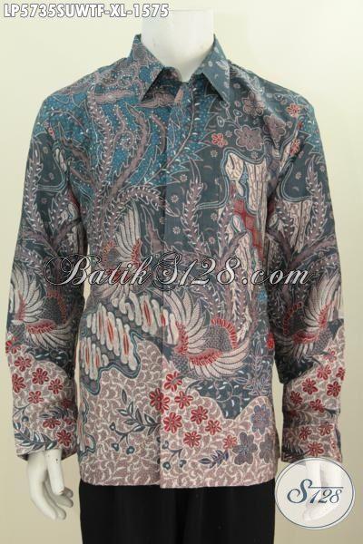 Hem Batik Sutra Ukuran XL, Hadir Dengan Motif Mewah Model Lengan Panjang Pake Furing Proses Tulis Tangann Asli, Pas Banget Buat Acara Formal