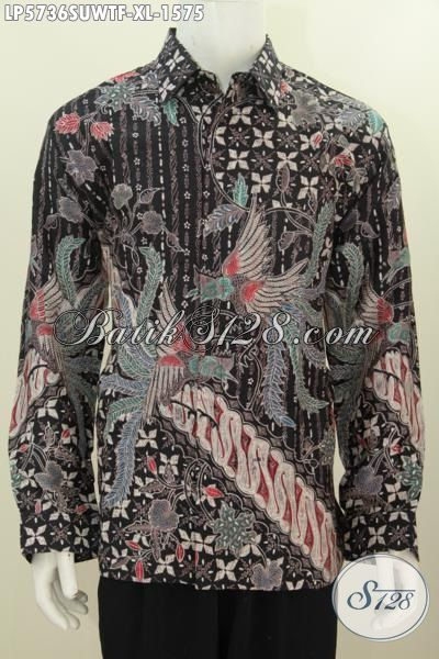 Pusat Pakaian Batik Premium Online, Jual Kemeja Harga Mahal 1.5 Jutaan Berbahan Sutra Dengan Motif Bagus Proses Tulis Tangan Daleman Full Furing, Size XL