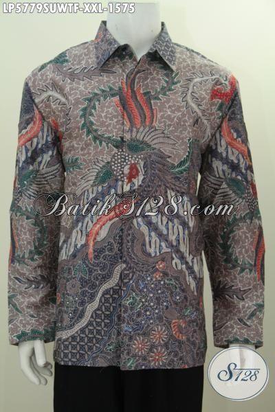 Sedia Pakaian Batik Pejabat, Baju Batik Para Pengusahan Berbahan Halus Sutra Twist Harga 1.5 Jutaan, Batik Tulis Tangan Lengan Panjang Daleman Pakai Furing Size XXL