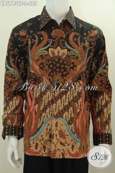 Batik Hem Istimewa Lengan Panjang Pake Furing, Busana Batik Elegan Motif Bagus Bahan Adem Proses Tulis Tangan Asli, Pas Banget Buat Acara Formal [LP5783TF-L]