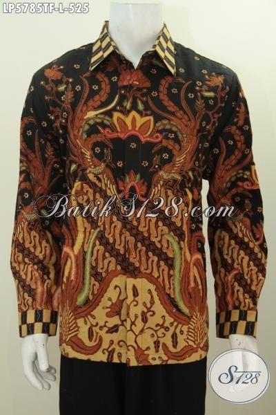 Jual Produk Pakaian Batik Premium 500 Ribuan, Busana Batik Elegan Mewah Size L Model Lengan Panjang Pake Furing