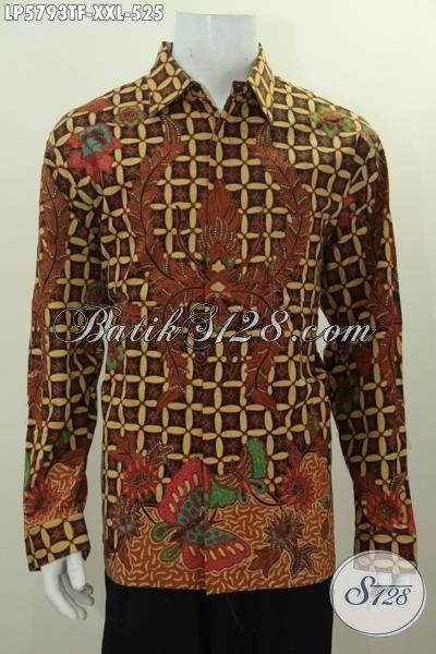 Kemeja Batik Kawung Motif Klasik Kawung Kupu
