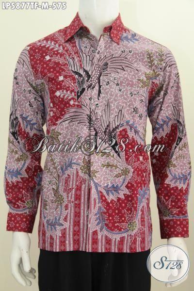 Hem Batik Mewah Lengan Panjang Premium Buatan Solo, Baju Batik Modern Halus Proses Tulis Tangan Istimewa Daleman Pakai Furing, Baju Batik Pejabat Untuk Tampil Gagah Berkelas, Size M
