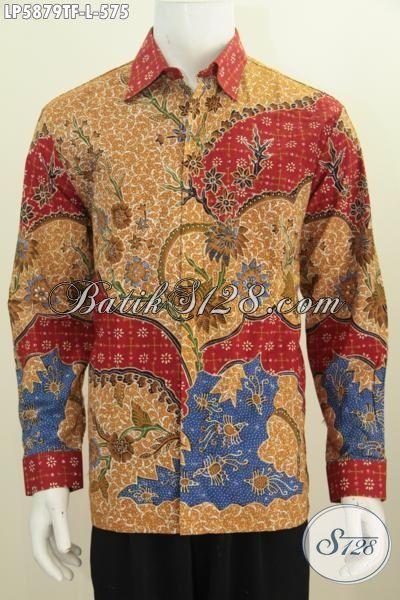 Hem Batik Premium Di Jual Online, Kemeja Batik Mewah Proses Tulis Tangan Istimewa Buatan Solo Indonesia Daleman Full Furing Motif Bagus Harga 575K, Size L