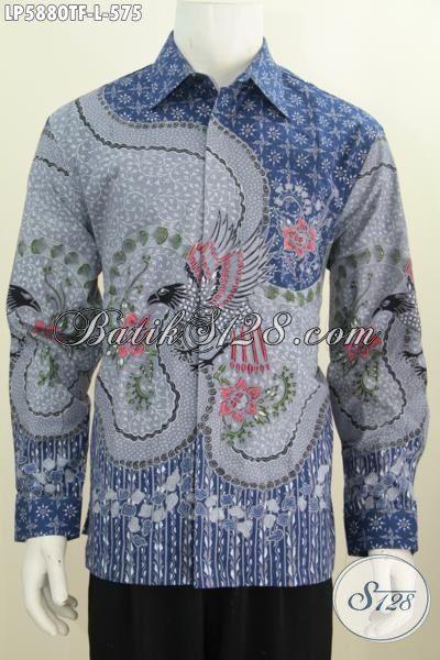 Baju Kemeja Batik Modis Halus Mewah Trend Masa Kini, Produk Pakaian Batik Istimewa Buatan solo Untuk Pria Pejabat Dan Executive, Busana Batik Premium Full Furing Untuk Penampilan Lebih Berkelas, Size L