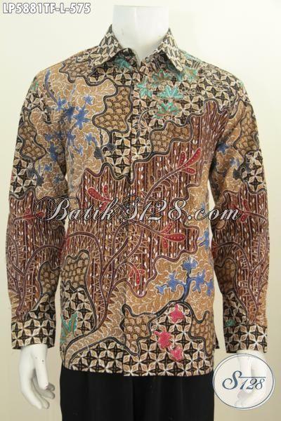 Hem Batik Premium 500 Ribuan, Baju Batik Mewah Lengan Panjang Khas Pejabat Model Lengan Panjang Motif Mewah Full Furing, Size L